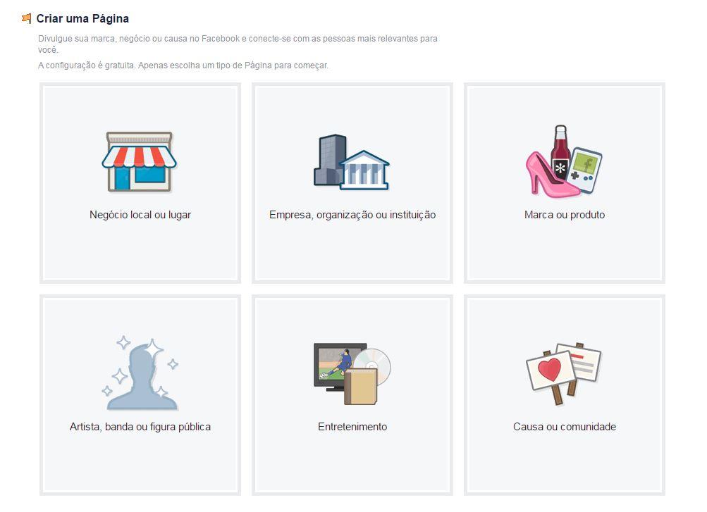 como criar uma conta no facebook para empresas
