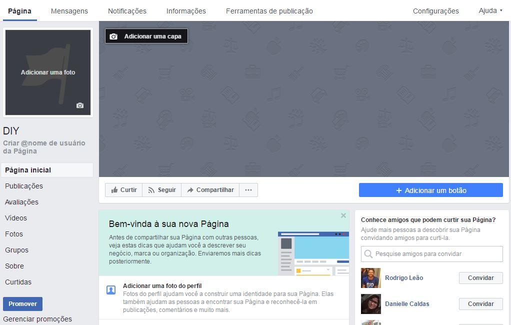 como criar uma conta no facebook para empresas exemplo
