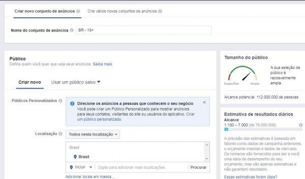como anunciar instagram brasil - publico alvo